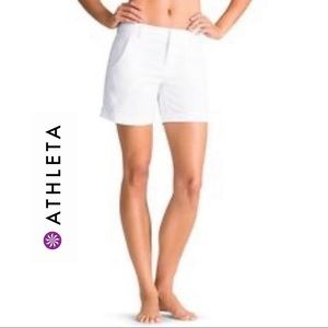 💜 Athleta Shorts White Color Cotton Casual Size 0